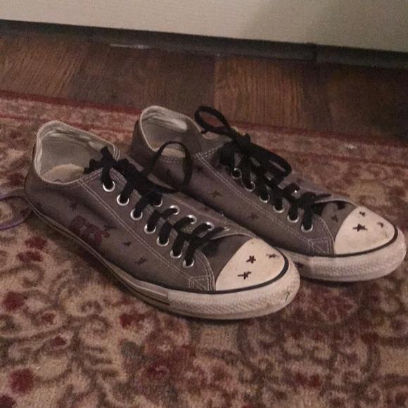 custom BTS Converse low tops